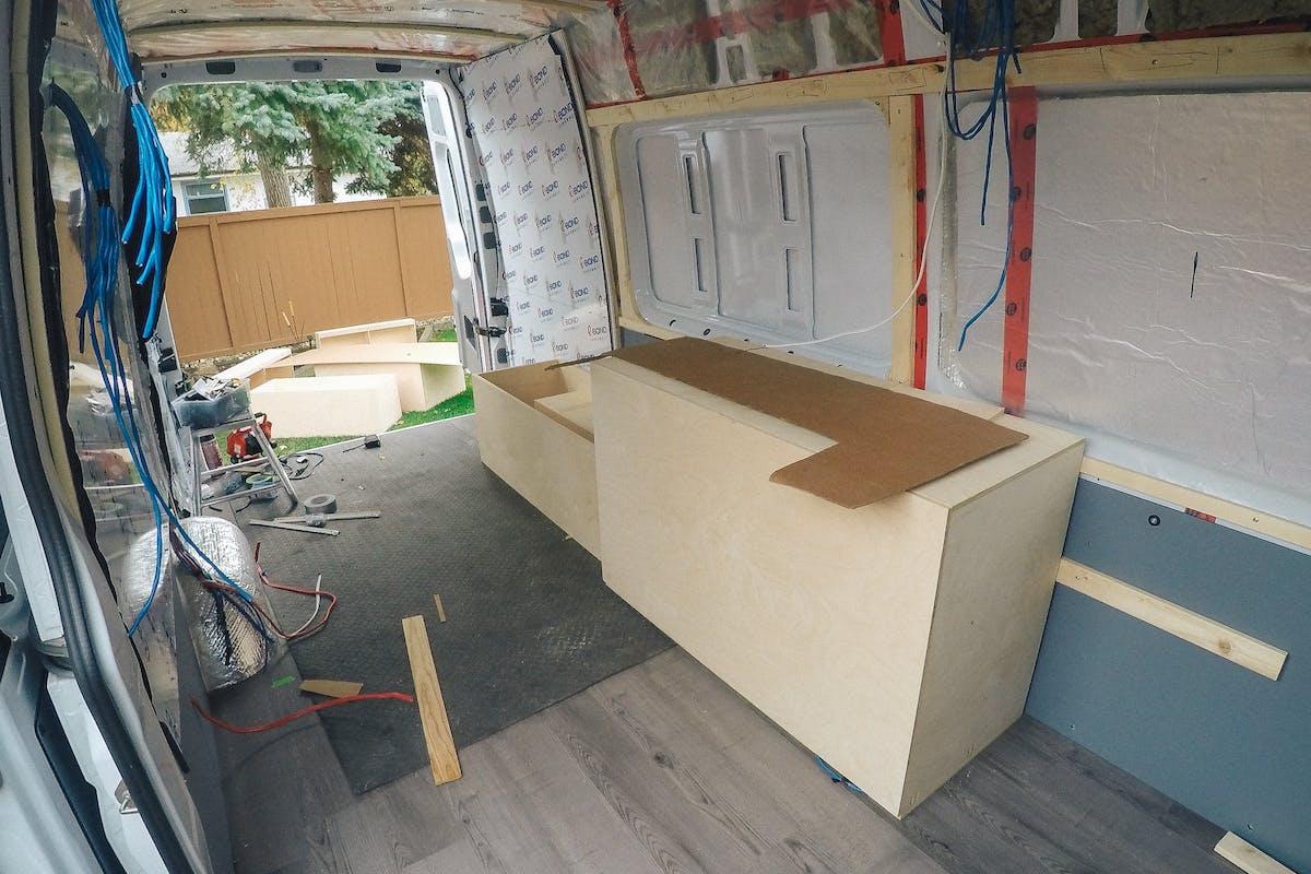 sprinter van cabinets