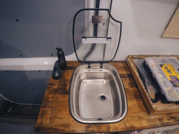 sprinter sink install