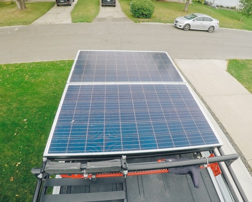 sprinter van solar panels