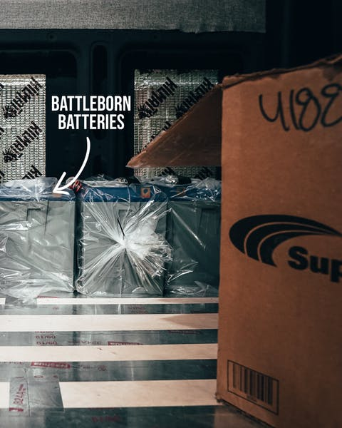 Getting ready to install the Battle Born Batteries