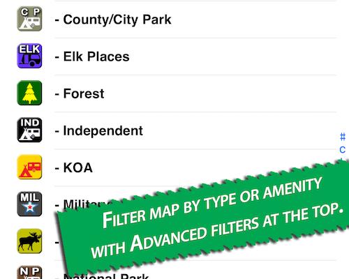 Allstays App filter
