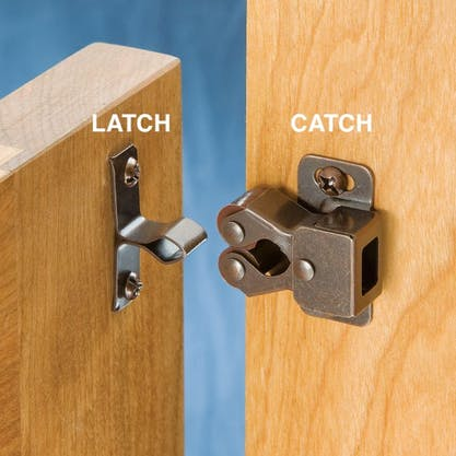 A latch and a catch