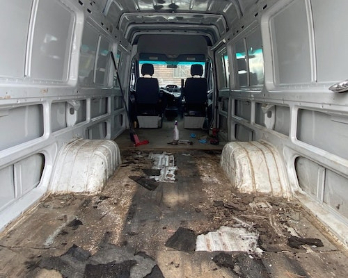 Before rust removal (Interior)