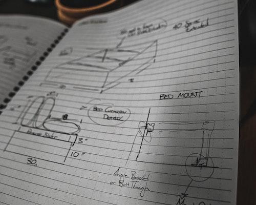Hand written van plans