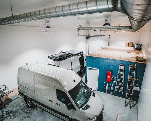 2 vans in the new shop space